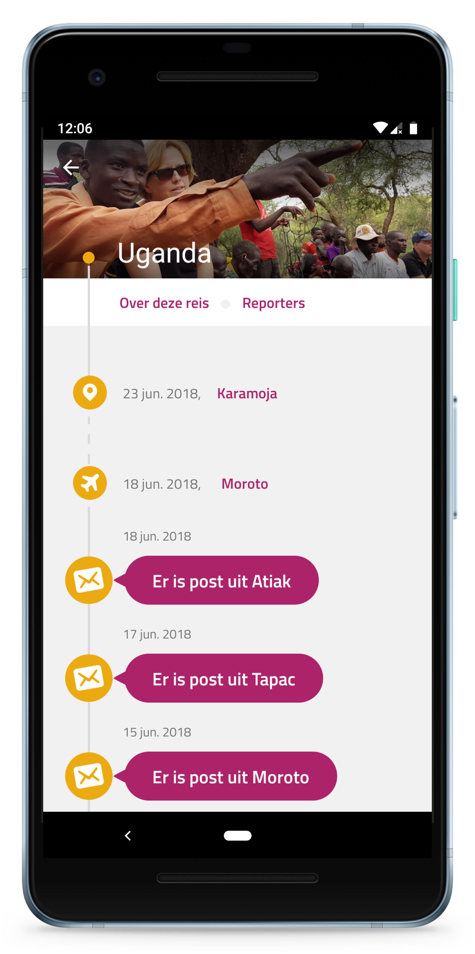 100 Reporters app van Mensen met een Missie