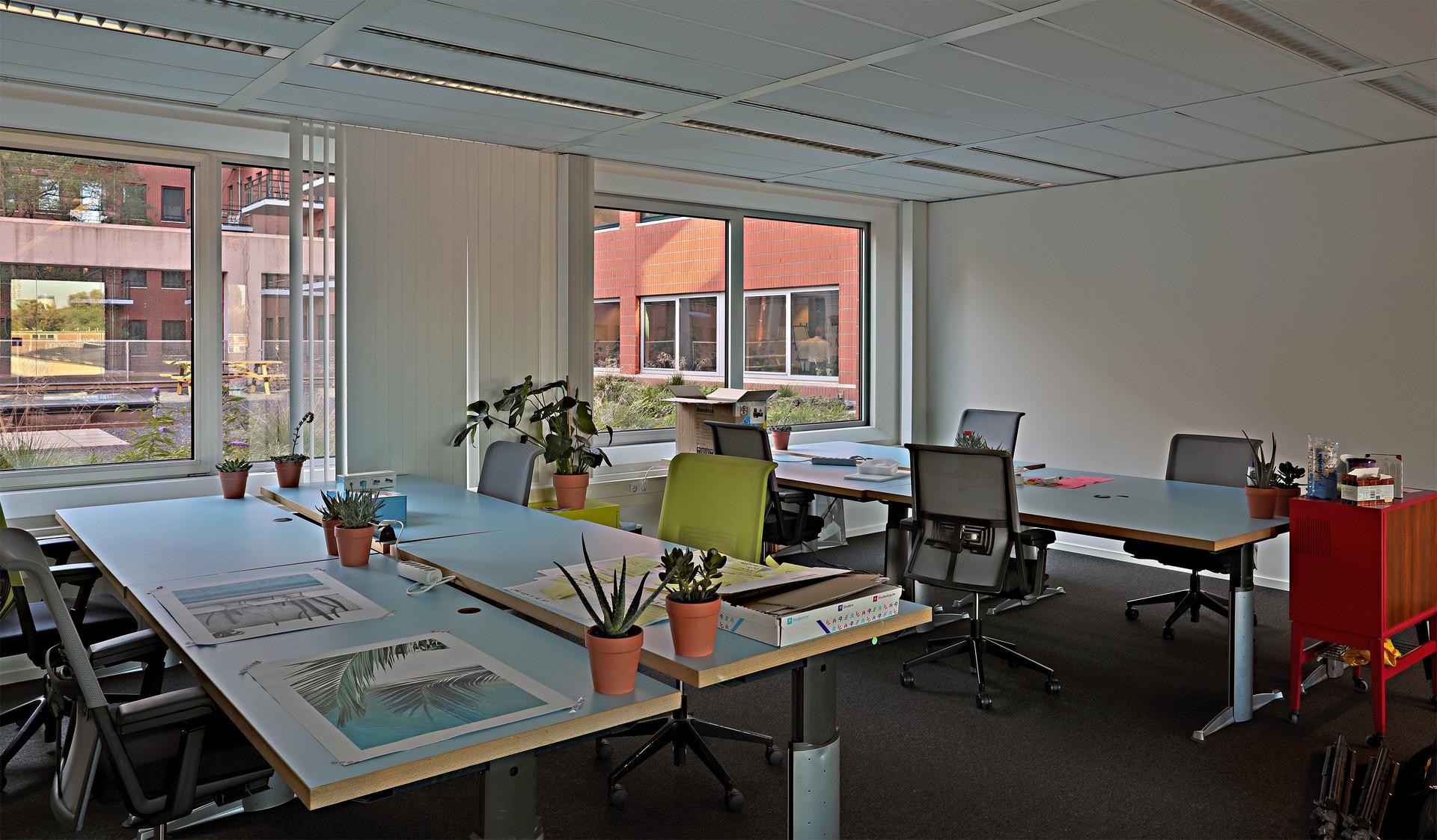 Tweede etage van Q42 Den Haag, de zgn. Hub